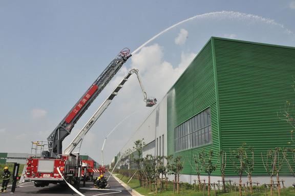盐城开展大跨度大空间消防演练